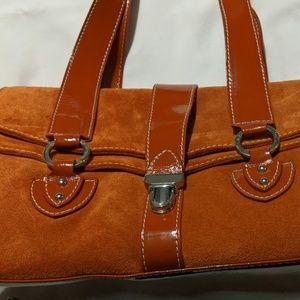Helen Welsh Suede & Leather Handbag